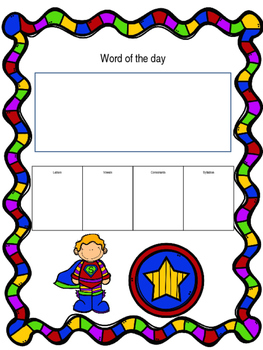 Word of the day- Superhero boy
