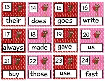 Word of the day Calendar: sight words, CVC, CVCE +