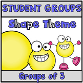 Pick a Partner Cards Student Groups Shapes
