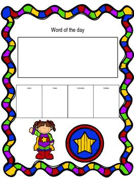 Word of the day-Superhero girl