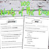 Word of the day! Worksheets