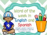 Word of the week- Palabra de la semana
