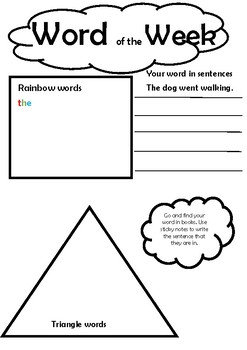 Word of the week activity