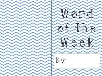 Word of the week book