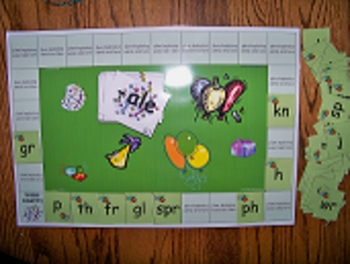 Word party game set for work with word families