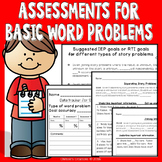 Word problem assessments for progress monitoring