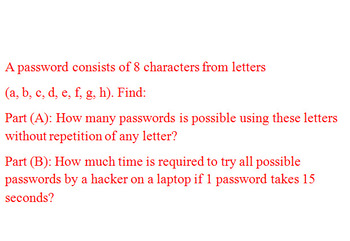 Word problem on Permutations of Passwords