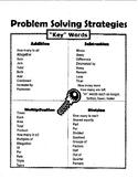 Word problem solving key word strategies