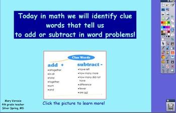 Word Problem Strategies & Clue Words Flipchart
