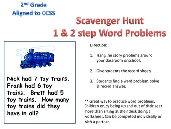 Word problems 1 & 2 step 2nd Grade