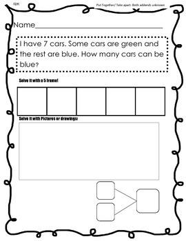 Word problems Kindergarten