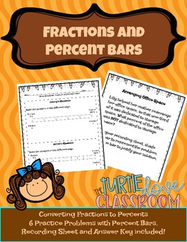 Word problems: Percents and Percent bars for 7th graders