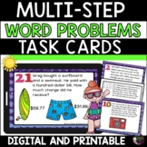 Word problems- multi-step summer theme (24 Task cards)