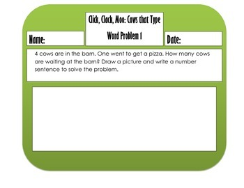 Word problems with favorite read alouds