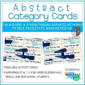 Word retrieval with abstract categories