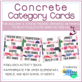 Concrete Category Cards for Semantic Networking Word Retri