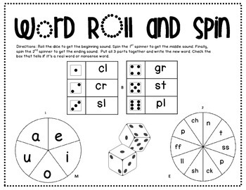 Word roll and spin