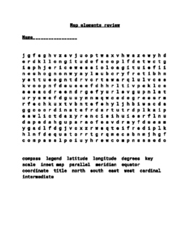 Word search for map elements