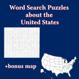 Word search puzzles United States (6 puzzles)