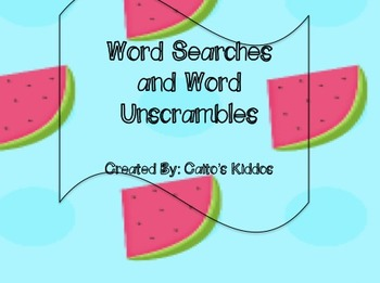 Word searches and word unscrambles