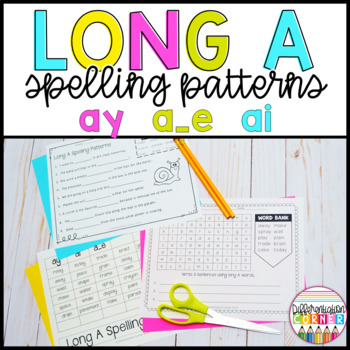 Long Vowel A Worksheets