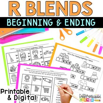 Beginning r blend Worksheet Pack