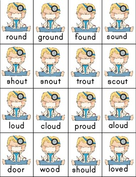 Word sort for /ou/ , Mole and the Baby Bird