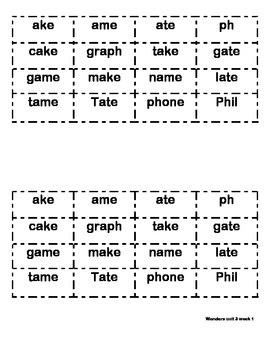 Word sorts Unit 3 Weeks 1-3 Wonders