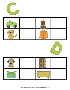 A-Z Word to Picture Match Adapted Activity Book