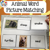Word to Picture Matching Activities Animals