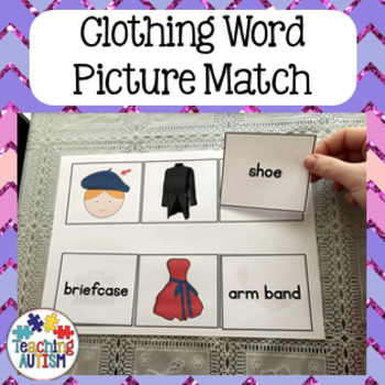 Clothing - Word Picture Matching