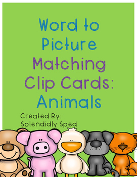 Word to Picture Match--Animals
