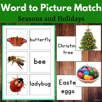 Word to Picture Match for Speech Therapy Set 2