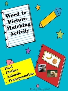 Word to Picture Matching Activity