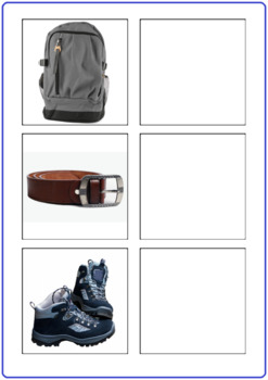 Word to Picture Matching Activity-Boys Clothing
