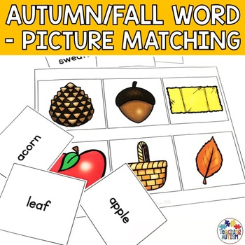 Word Picture Matching: Autumn Fall