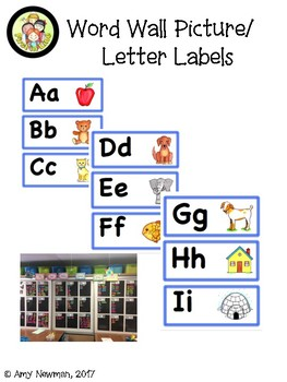 Word wall Label cards for making your Classroom Word Wall