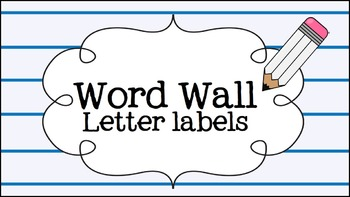 Word wall cards - pencil theme