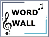Word Wall for General Music K-5