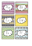 Word wall letters (Chevron themed)