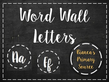 Word wall letters (chalkboard and cursive themed)
