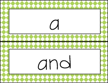 Word wall words - Pre-Kindergarten
