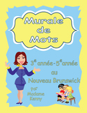 Word wall words for French Immersion Grade 3 to 5 (New Brunswick)