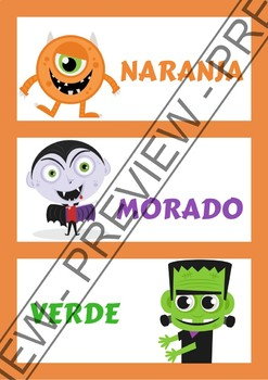 Word walls Autumn in Spanish - Carteles para la pared en español (Otoño)