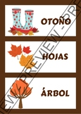 Word walls Autumn in Spanish - Carteles para la pared en e