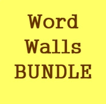 Word walls in French Bundle