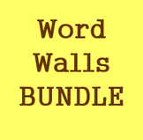 Word walls in Italian Bundle