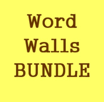 Word walls in Italian Bundle