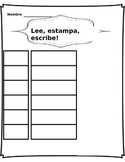 Word work Center- Lee, Estampa, Escribe