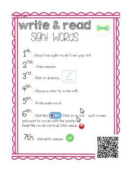 Word work (Seesaw)